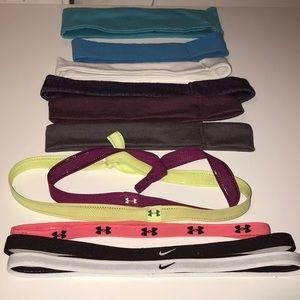 Assortment of Nike/UA headbands